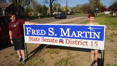 Fred S. Martin Sign